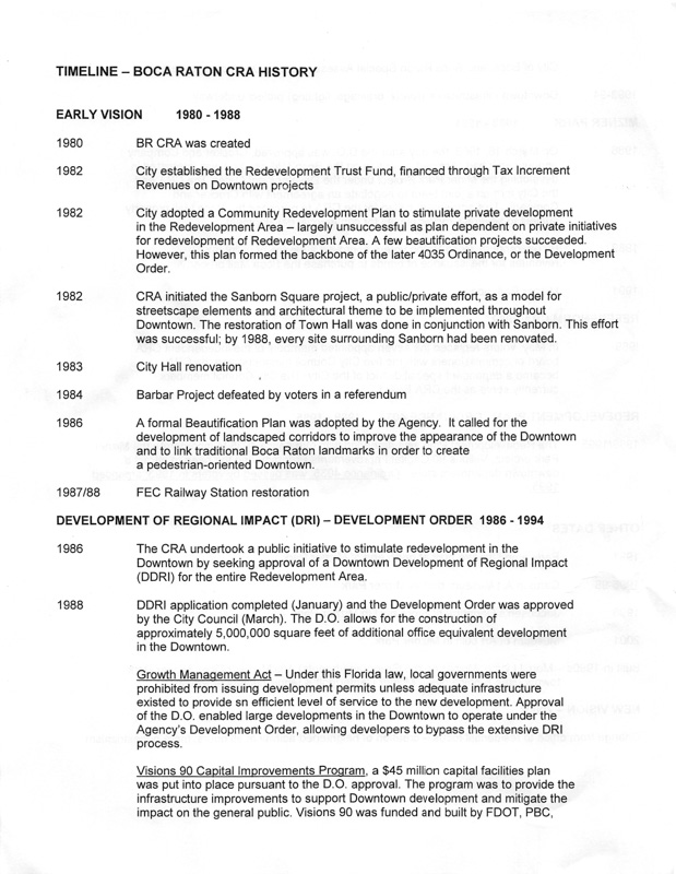 Historical Society Handout page 1