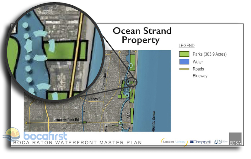 Ocean Strand Location from EDSA Waterfront Master Plan