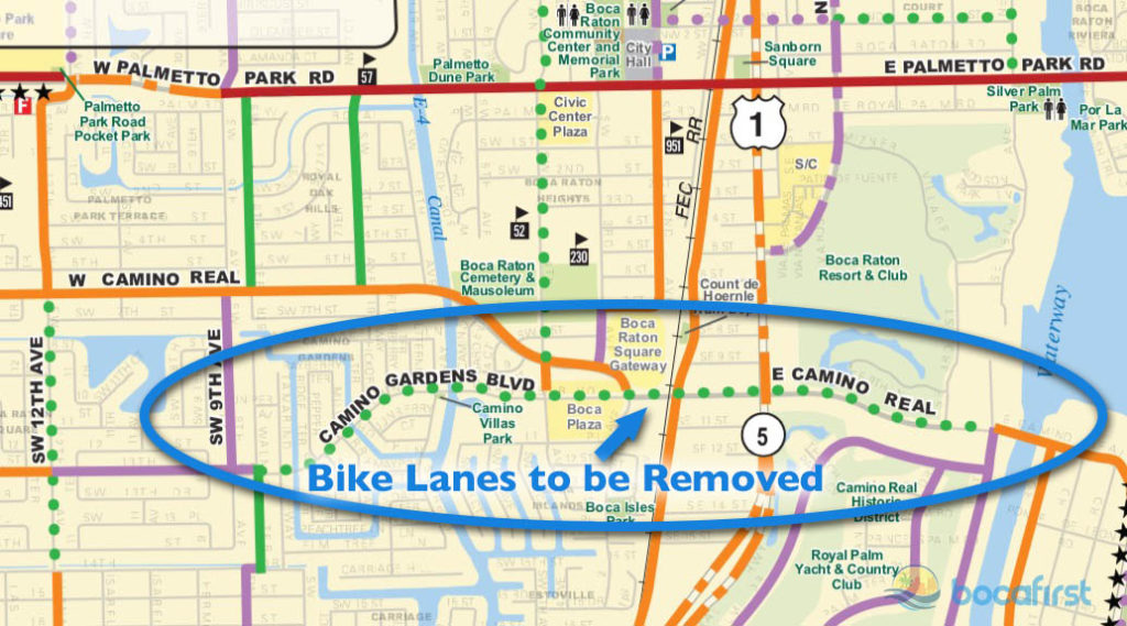 Boca Square & Camino Gardens Bike Trail to Intracoastal
