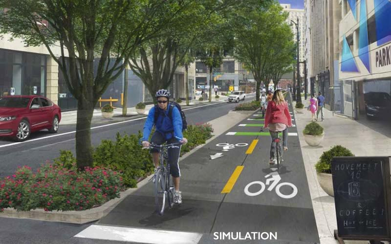 Pedestrian/Bike Way Simulation