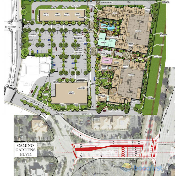 Camino Square Composite diagram of Project and Roadway Proposals