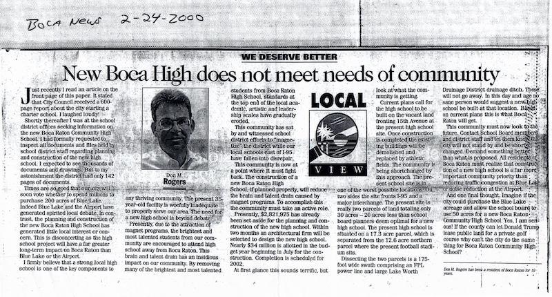 Boca High article 2000