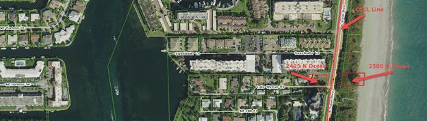 Satellite image of 2425 and 2500 N Ocean Blvd