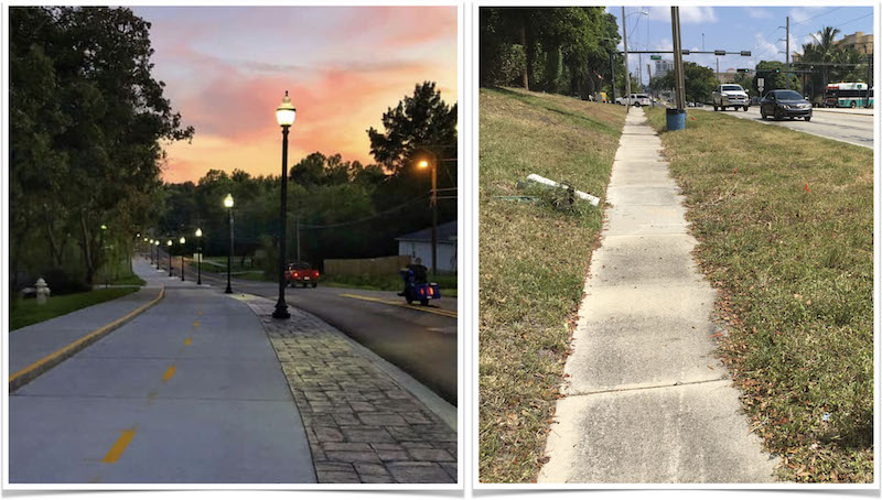 Fayetteville Arkansas multi-use trail vs Boca Raton Florida