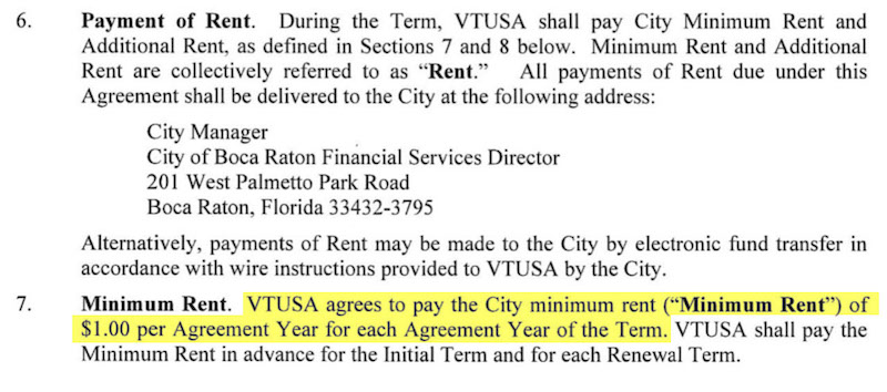 Dollar Rent from Lease