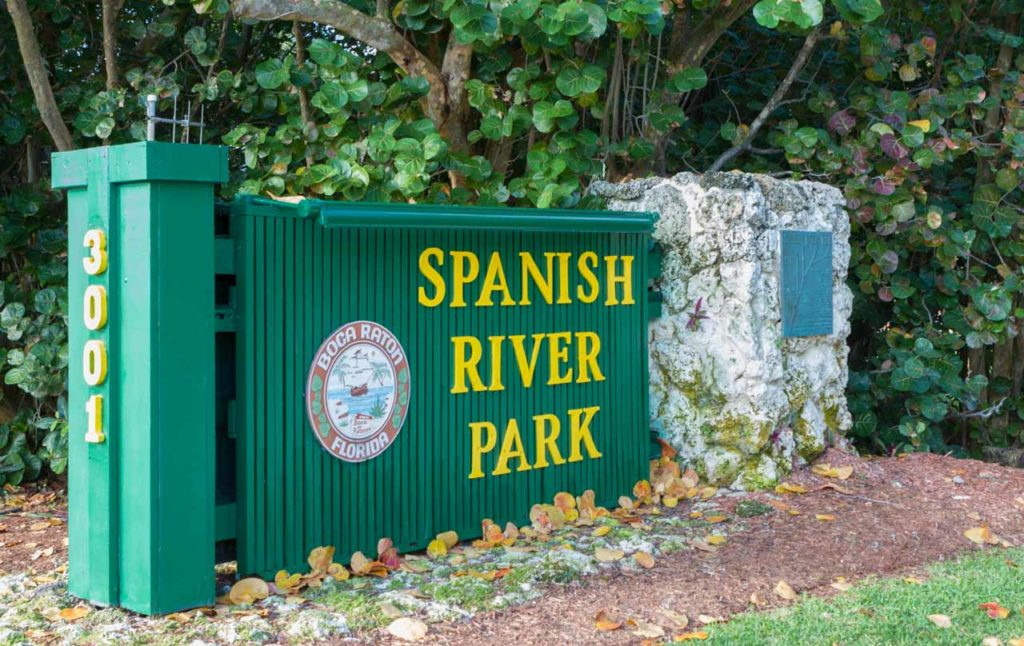 Spanish River Park Sign