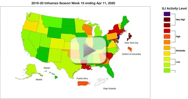 April 11 Influenza Surveillance Report Prepared by the Influenza Division for Influenza-Like Illness (ILI) Activity Level Indicator Determined by Data Reported to ILINet