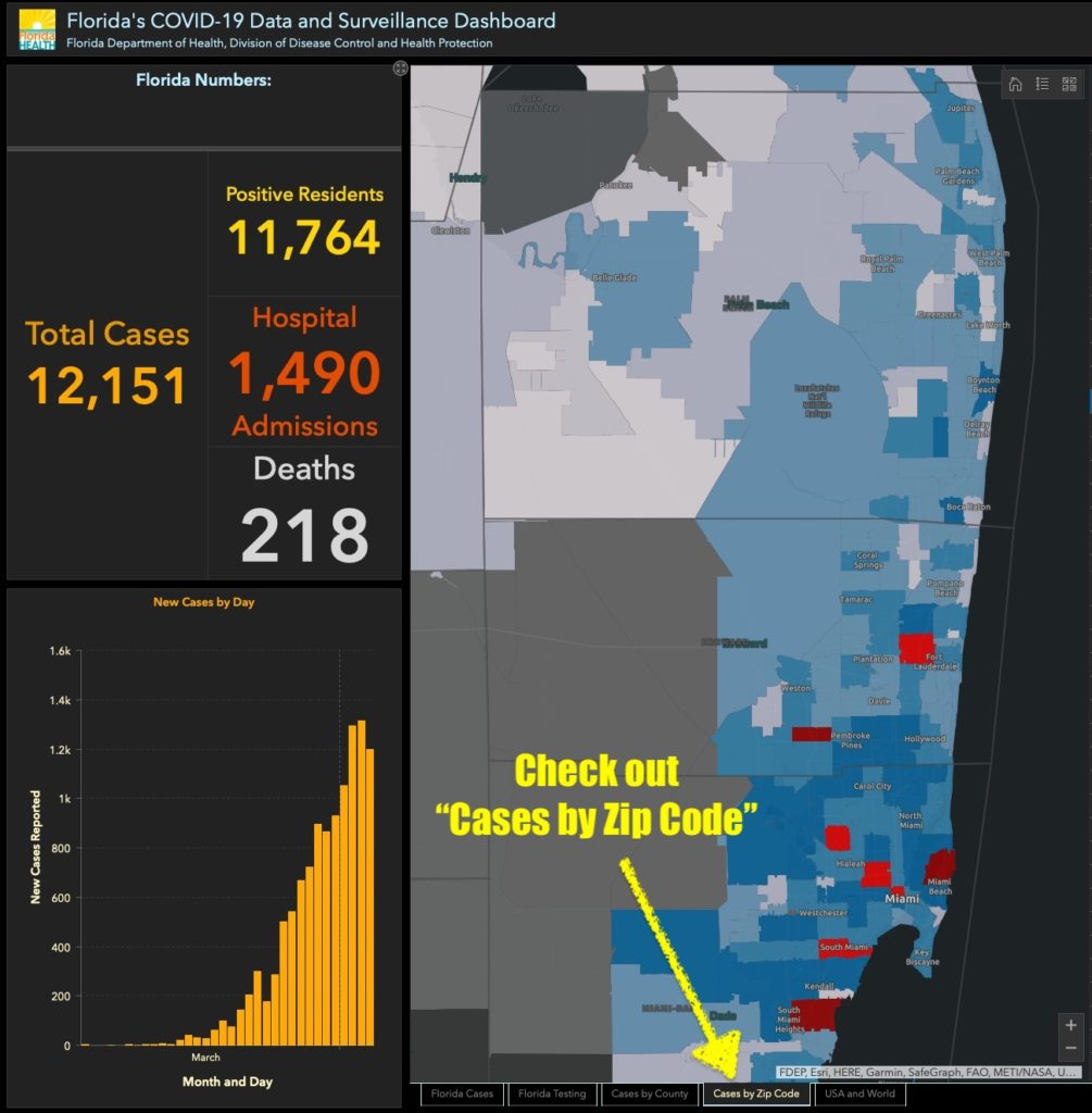 Florida COVID-19 - Cases by Zip Code