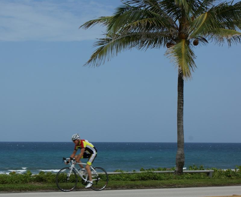 Biking A1A in Boca Raton