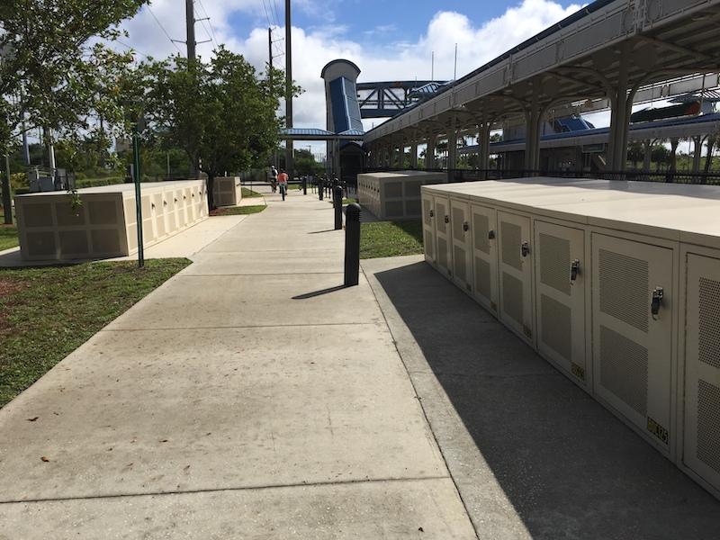 Bike Lockers at Tri-Rail in Boca Raton
