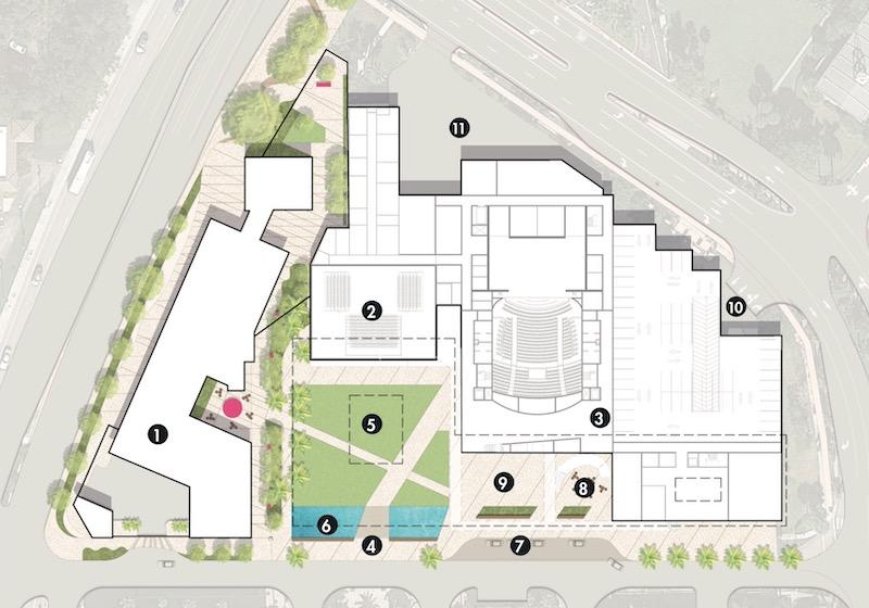 Site rendering of proposed Boca Raton Arts District at Mizner. Courtesy of BRCAI