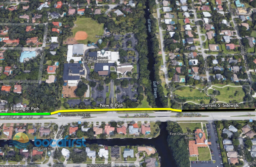 Planned FDOT enhancement to existing shared use path.