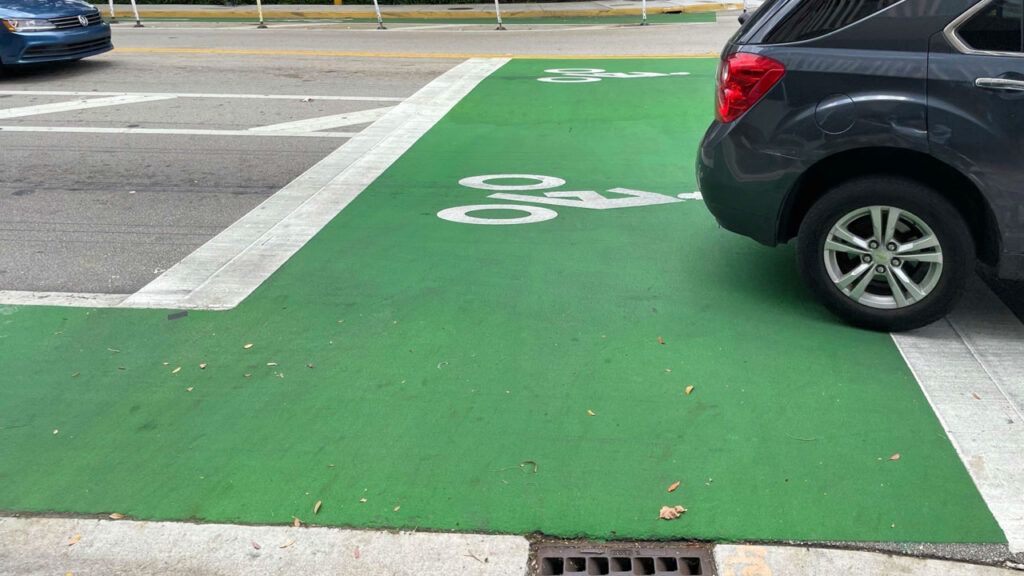 Bike Box contributing to bicycle visibility and safety at intersections